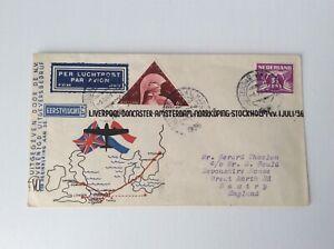 Netherlands 1936  first round fligt AMTERDAM to ENGLAND