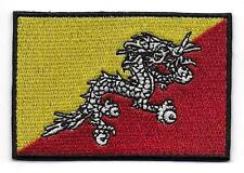 Embroidered Bhutan Flag Iron on Sew on Patch Badge HIGH QUALITY APPLIQUE
