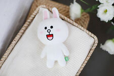 "Line Friends Character White Cony 7""(18cm) Stuffed Plush Doll Cuddle Toy Bedding"