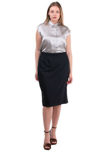 RRP €125 PER TE By KRIZIA Pencil Skirt Plus Size 23 / M Wool Blend Made in Italy