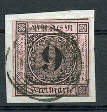 Baden: Mi.Nr.4a gestempelt auf Briefstück, gepr. Seeger BPP. Mi: 200,-