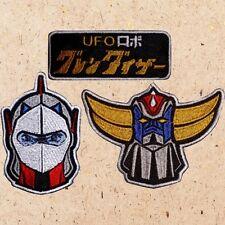 Lot of 3 Grendizer Patches UFO Robot Great Mazinger Z Nagai Duke Fleed Goldorak