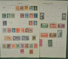 ALGERIA FRENCH  STAMPS SELECTION ON 4 ALBUM PAGES  (K43)