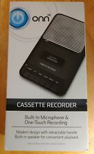 Onn Portable Cassette Player Recorder w/ External Microphone and Blank Tape New