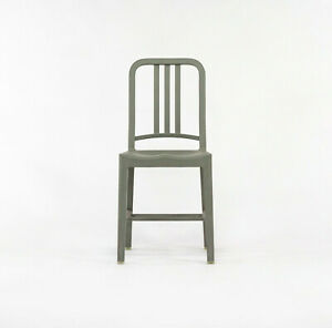 Emeco Coca-Cola 111 Navy Chair in Flint Gray Made From Recycled Plastic Bottles