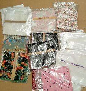 Wholesale joblot Ex Stock Mixed Handkerchiefs Hankies Paisley Floral Plain White