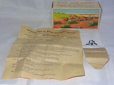 britains ROYAL ARTILLERY GUN BOX 1201 with rare  instruction leaflet and shells