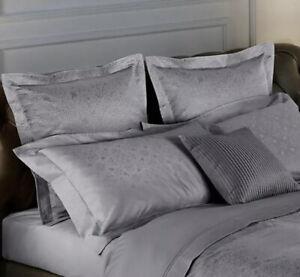 Frette Arabesque Standard Sham Medium Grey New