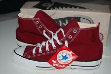 CONVERSE ALL STAR HI MADE IN USA 9 VINTAGE 80s DEADSTOCK CHUCK TAYLOR MAROON