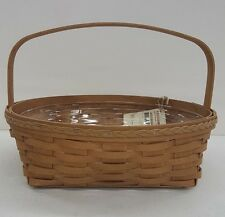 Longaberger 2009 Fancy Round Pie Basket Set Wb Warm Brown + Protector New