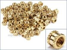 100pc M3 3mm Female Brass Knurled Nuts Threaded Thread Embedded Circular Insert