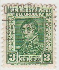 (UG-163) 1933 URUGUAY 3c GREEN RIVERA (B)