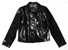 Behnaz Sarafpour BEHNAZ Black Patent Leather Jacket Women's L Large Shiny Vinyl
