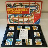 Vintage Ravensburger Board Game - Rivers, Roads, and Rails - 1984 Complete