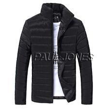 2016  Mens Winter Slim Fit Jackets Padded Coats Overcoat Parka Warm Outwear Tops