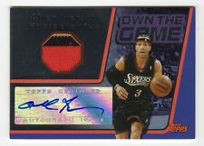 2006-07 Topps Allen Iverson Own The Game Auto Patch #4/5 Sixers