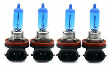 4x H11 55w Azul Xenon halógena Temperatura 8500k Luz De Cruce Bombillas Coche