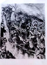 Marc Chagall offset lithograph Bible  paris maeght 1960 original  2 sided 125