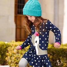 Princess Kids Girls Deer Long Sleeve Dress Baby Party Pageant Mini Dresses 6T