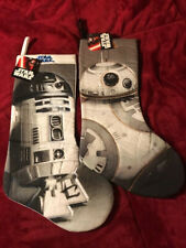 New! Disney Star Wars Quilted R2D2, Bb-8 Full Size 19 Inch Christmas Stockings