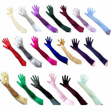 1pair Women Satin Arm Hand Long Sleeve/Gloves Evening Party Opera Bridal Wedding