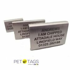 STAINLESS STEEL LASER ENGRAVED AGILITY DOG PET ID COLLAR TAGS
