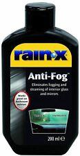 Rain X Anti Fog Repellent Liquid 200ml Glass Mirror Window Car Windscreen Mist