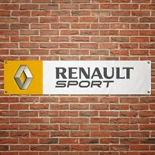 Renault Sport Banner Garage Workshop PVC Sign Trackside Display Clio Cup