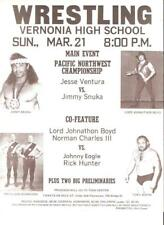 Snuka Poster Mint Original Vintage 1970s Wrestling Owen Ventura Don Kangaro rare