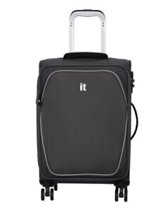 it Luggage Expandable 8 Wheel Soft Cabin Suitcase - Grey Brand New Lightweight