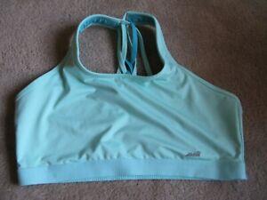 Women's Avia XXL/2XG green unpadded sports bra /cross strap back