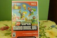 New Super Mario Bros. Wii (Nintendo Wii, 2009) Brand New Factory Sealed - NICE!!