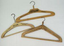 3 cintres Le Manteau Anvers Belom Tailleur Jacky Vintage coat hangers wood