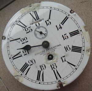 Heath & Company Military Ship Clock movement & dial 18 cm. in diameter