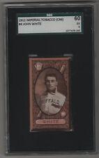 1912 C46 Imperial Tobacco Baseball Card #4 John Jack White Buffalo Bisons SGC 5