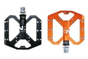 ENZO Road Mountain MTB Bike Pedal 3 Bearing Steel Flat-Platform Bicycle Pedals