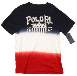 Polo Ralph Lauren Boys Multi-Color Tie-Dye Crew-Neck Short Sleeve T-Shirt