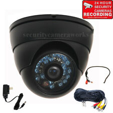 Dome CCD Security Camera Outdoor IR Day Night Wide Angle w/ Audio Microphone BQV