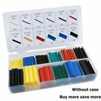 328pcs Cable Heat Shrink Tubing Sleeve Wire Wrap Tube 2:1 Assortment Kits Tools