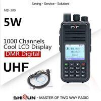 TYT MD-380 DMR Radio Compatible with Motorola Tier1/2 Dual Band UHF VHF 5W