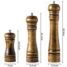 Wooden Salt & Pepper Kitchen Rubberwood Grinder Shaker Spice Mill Pots Set New