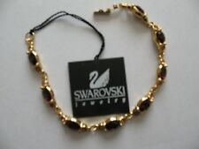 Swarovski Dark Amber Color Bracelet Signed - LOVELY! - New