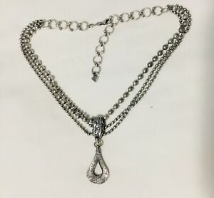 RETIRED Silpada Sterling Silver Cascading Three-Strand Necklace N1900