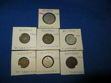 7 Austria Silver & Other Coins 1 10 20 50 Groschen 1 & 5 Shillings 1951 to 1963