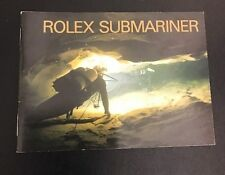 LIBRETTO Authentic Rolex  SUBMARINER sea-dweller del 2000 LINGUA INGLESE