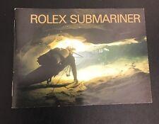 LIBRETTO Authentic Rolex  SUBMARINER sea-dweller del 2000 LINGUA INGLESE