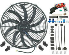 "16"" INCH ELECTRIC COOLING FAN 12 VOLT PUSH-IN RADIATOR FIN PROBE THERMOSTAT KIT"