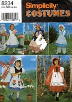 Simplicity Child's Costume Pattern 8234 Size 3-6 UNCUT