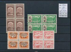 LN72853 Bolivia 1941 blocks of 4 mixed thematics fine lot MNH cv 43,2 EUR