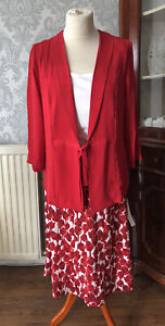 Anthology Womens 3 Piece Suit, Skirt And Cami Top Size 12, BNWT